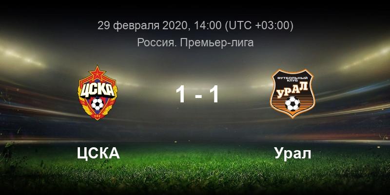 ЦСКА - Урал 29 февраля смотреть онлайн