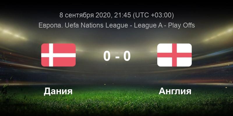 Футбол Дания - Англия 8.09.2020 смотреть онлайн