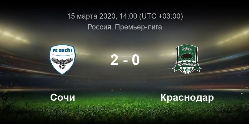 Футбол Сочи - Краснодар 15 марта смотреть онлайн