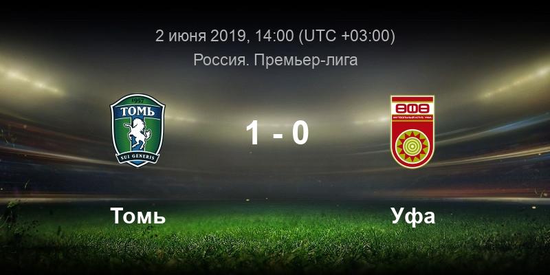 Футбол прямая трансляция Томь - Уфа 02.06.19 смотреть онлайн
