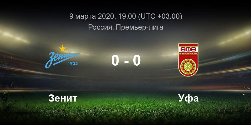 Футбол Зенит - Уфа 9 марта смотреть онлайн